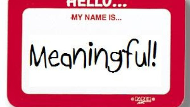 Emotional Investment, investing in relationships, meaning of names, name meaning