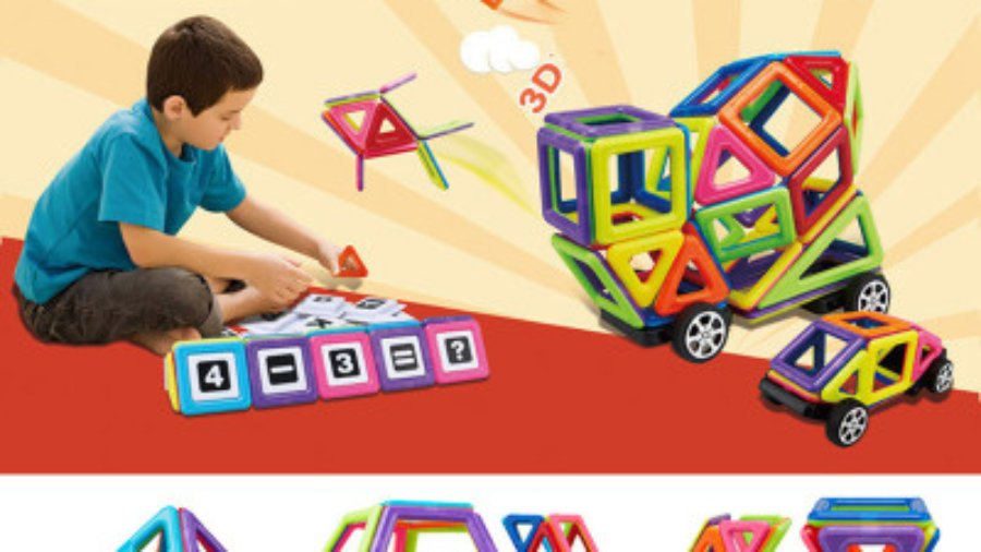 Magformers magnetc play sets promoting STEM education